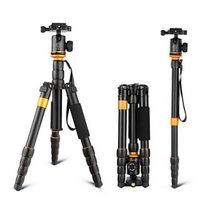 QZSD Q555 SLR Camera Tripod Monopod Stand Portable and Lightweight Travel Photography Accessories with Ball Head Bag Loading 5KG