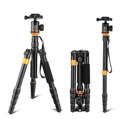 QZSD Q555 appareil photo reflex trépied monopode support Portable et léger voyage photographie accessoires avec sac à rotule chargement 5 KG