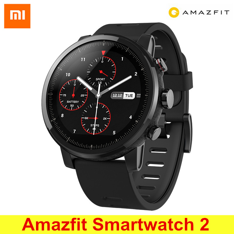 Huami Amazfit Smartwatch 2 Running Watch GPS Xiaomi Chip Bluetooth 4.2 Smart Watch Bidirectional Anti-lost for iOS Android smart baby watch q60s детские часы с gps голубые