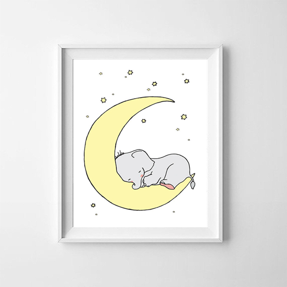 Cartoon-Elephant-Canvas-Painting-Wall-Picture-Art-Prints-Cute-Animals-Elephant-Koala-Print-Poster-Baby-Room (5)