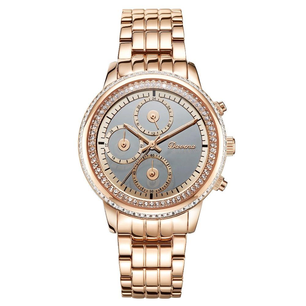 MATISSE Fashion Austria Crystal Dial Steel Watchband Triple Window Dial Lady Women Lady Buiness Quartz Watch Wristwatch matisse lady austria full crystal dial