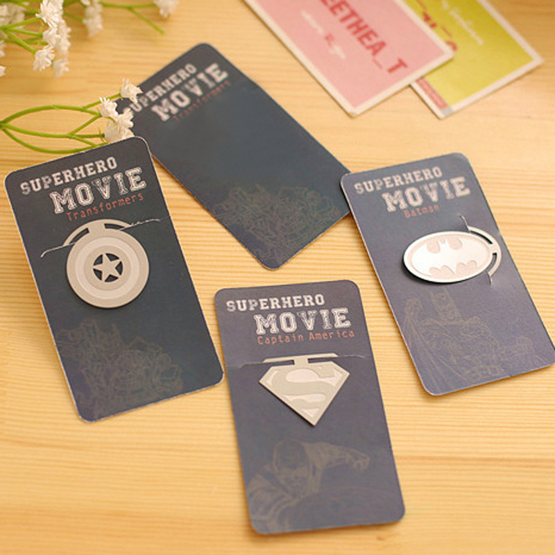 Exquisite Bookmark Superman Captain America Batman DIY Books Mark Clip  Teacher Students Gifts School Office Supplies Stationery In Bookmark From  Office ...