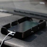 Автомобильный Противоскользящий коврик хранение мобильных телефонов коробка gps-держатели автомобильные Противоскользящие коврики коробк...