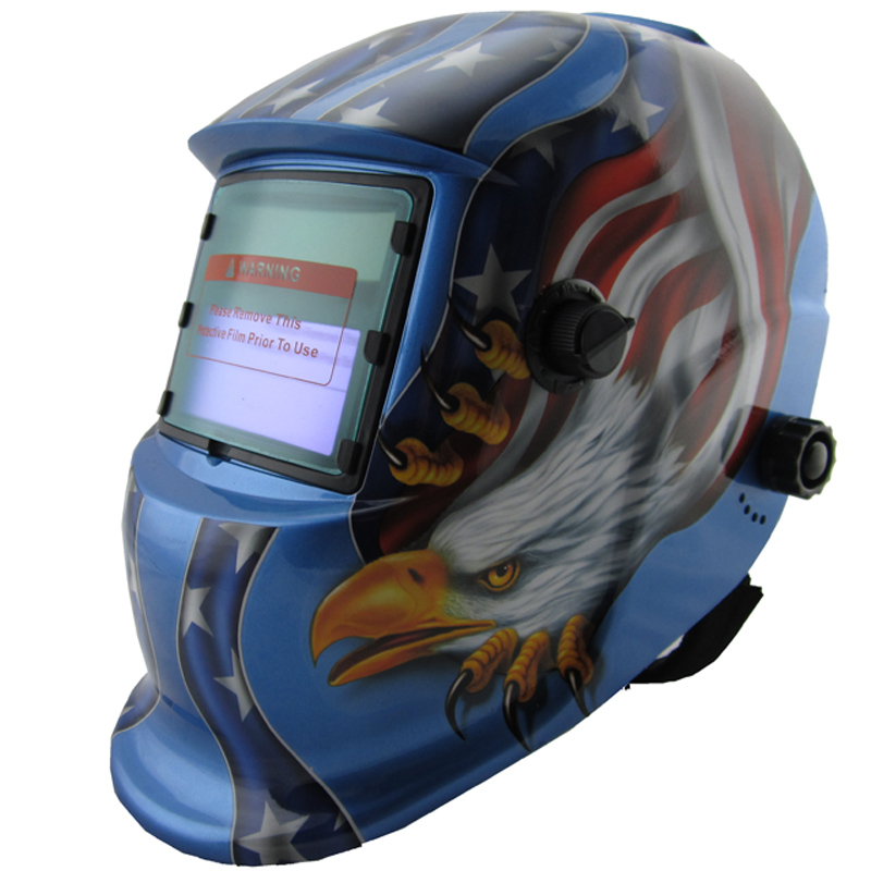 LI Battery solar Auto darkening welding helmet/face mask/Electric welder mask/cap for the welding machine and plasma cutter стоимость