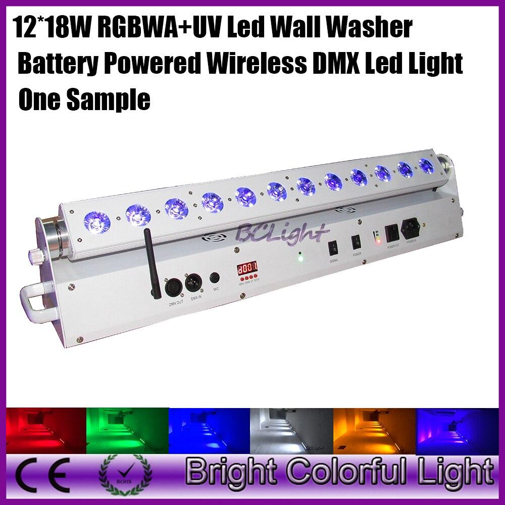 one sample high brightness rgbwa uv led bar light 12 18w battery powered wireless dmx led wall. Black Bedroom Furniture Sets. Home Design Ideas