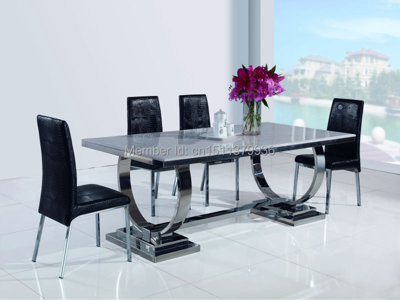 New Fashion Living Room Furniture Stainless Steel Dining Table Modern Dining  Table 801T In Dining Tables From Furniture On Aliexpress.com | Alibaba Group