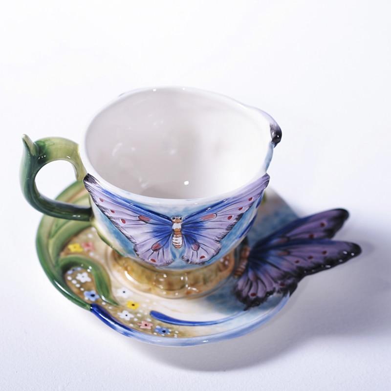 2018 новейшие креативные керамические кофейные чашки с блюдцем чайная чашка для