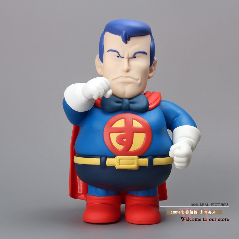 Free Shipping Anime Cartoon Dr.Slump Arale Fool Superman PVC Action Figure Collection Model Toy 22cm ARFG021 anime one piece dracula mihawk model garage kit pvc action figure classic collection toy doll