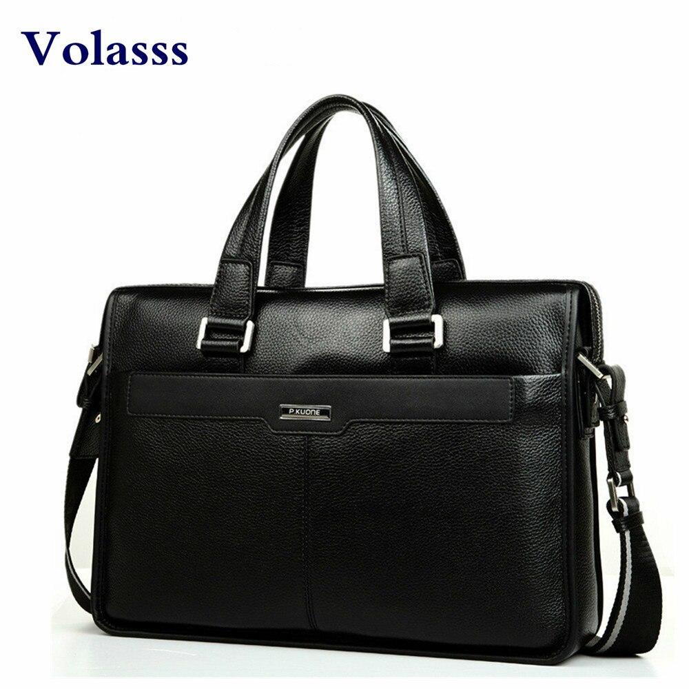 Men Leather Business Briefcase Bag Brand Design Laptop Bag Genuine Leather Male Shoulder Bags Messenger Bags Bolsa Masculina Sac