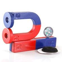 1 conjunto isotropic ferrite ímã kit para a educação ciência experiência barra + ferradura anel ímã de ensino brinquedo childen