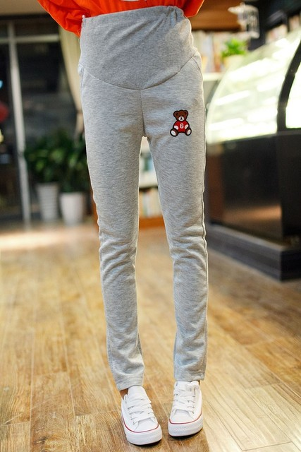2015 maternity clothing spring and autumn comfortable summer sports fashion basic plus size long trousers bear health pants