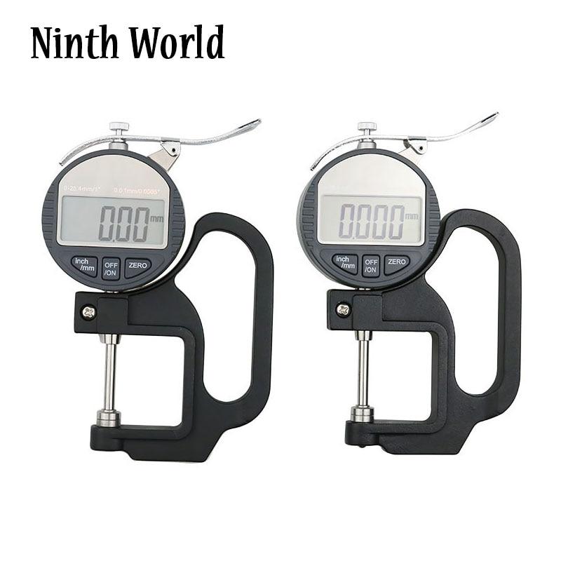 Цифровой толщиномер, точный Электронный микрометр, Размер 0-0,01 мм/12,7 мм, 25,4 мм