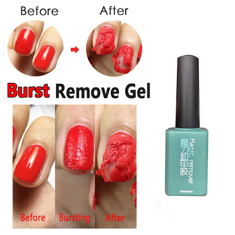 15 ml Nieuwe Magic Nail Burst Gel Nail Remover Acryl Soak Off Polish UV Gel Schoon Ontvetter Om Gel polish Vallen TSLM1