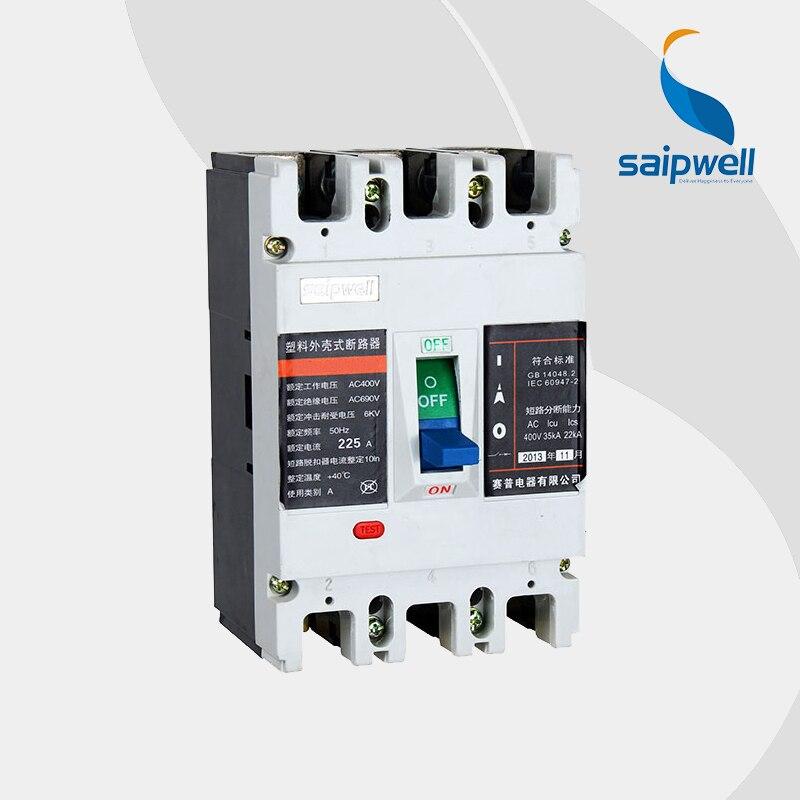 Saipwell GB10963 disjoncteur miniature 20 ampères Protection contre les fuites mccb (SPM2-225M/3P-B)