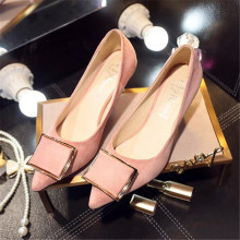 Spring and Autumn 2011 new metal side buckle high-heeled shoes with OL comfortable work shoes big size 4-9