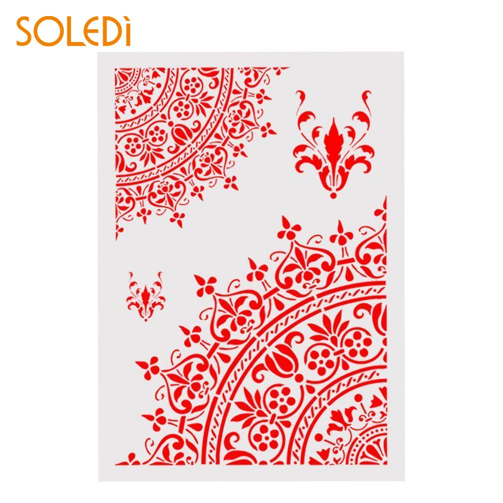 Scrapbooking Party Plastic DIY Painting Christmas Writing White Crown Decorative Stencils Cards Making Embossing Stamp Coffee
