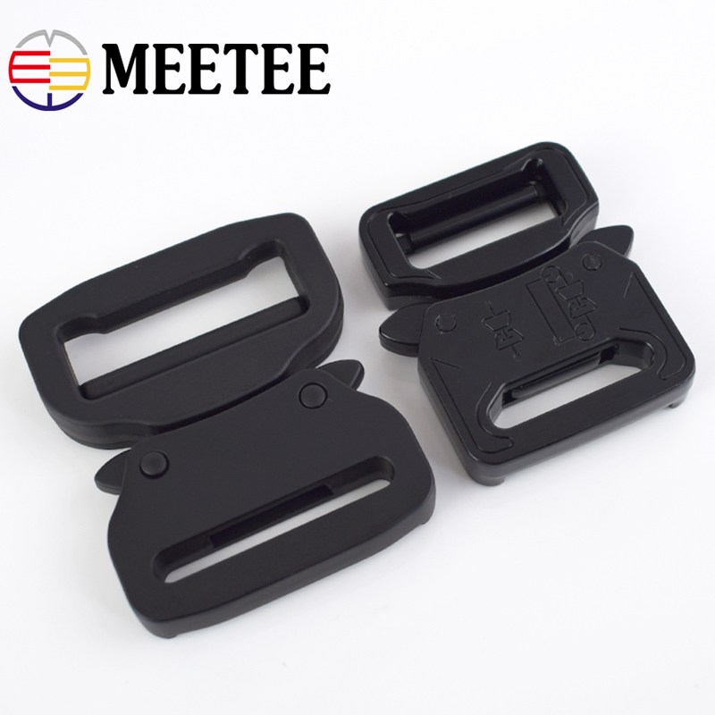 Meetee 27mm/38mm Metal Bag Backpack Strap Quick Side Release Buckle Dog Collar Webbing Belts Military Equipment Accessories