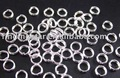 FREE SHIPPING 5000PCS silver plated split rings 6mm M273