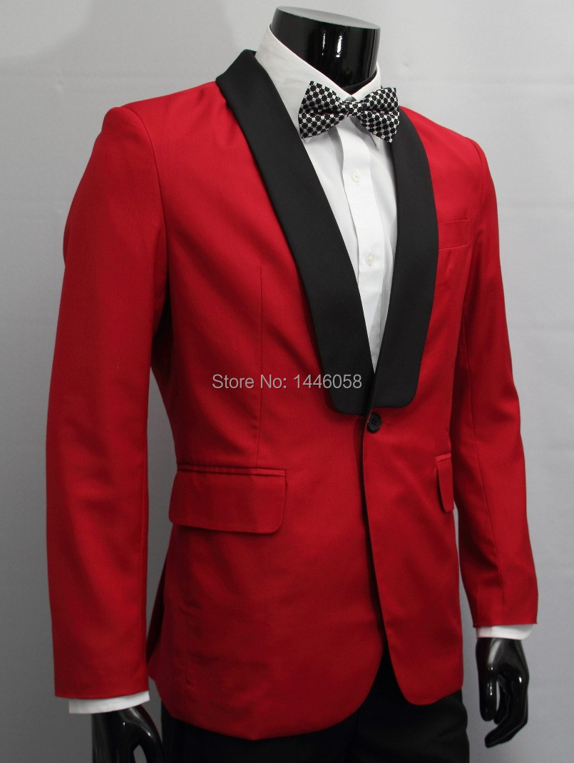 Mens Red Suit Jacket Dress Yy