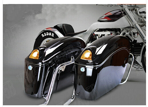 Motorcycle Hard Saddlebag Trunk Bag Luggage Tail Light Rail Bracket For Honda Shadow Spirit Sabre Aero Ace Steed Vlx 400 600 In Leather Saddle Bags From