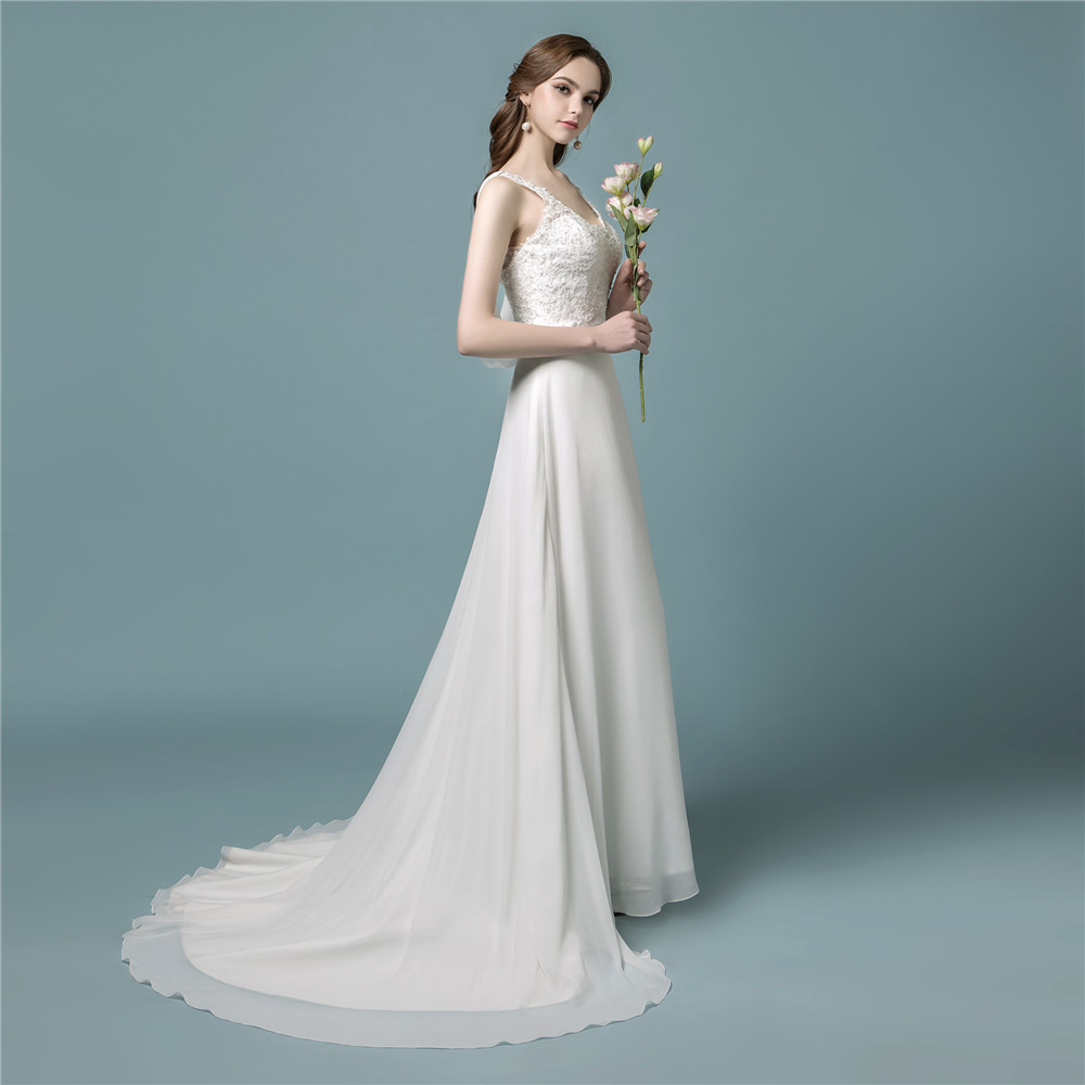 Vestidos De Noiva 2018 Bride Dress Bohemian Cheap A Line Lace Boho ...
