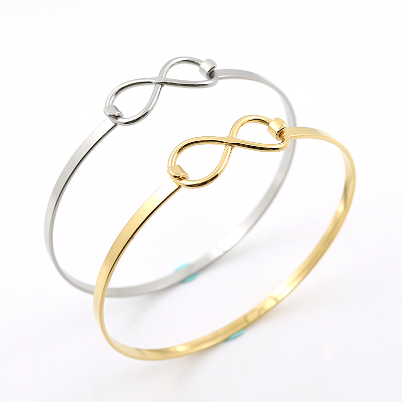 New Adjustable Silver Wire Love Heart Bangles DIY Stainless Steel Wiring Infinite Bangle font b Bracelet