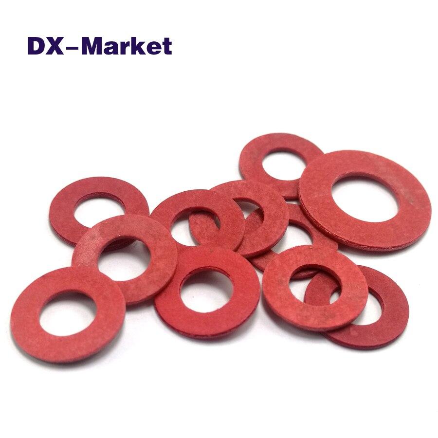 5 mm Fibre Rouge Plat D/'étanchéité Rondelles M5