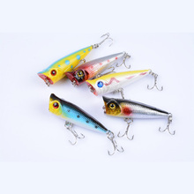Minnow Fishing Artificial Bait 5cm/4.9g Water Surface Wave Lying Plastic Hard Bait All For Fishing Crankbaits Baits Bass Lures цена