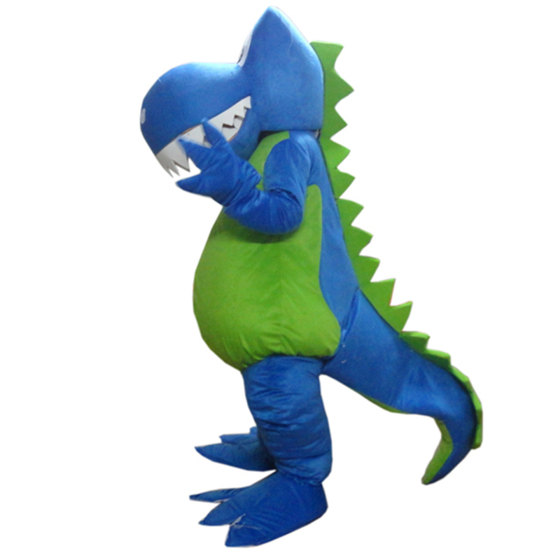 2015 Funny Blue Dragon adult Mascot costume Size : S M L XL XXL