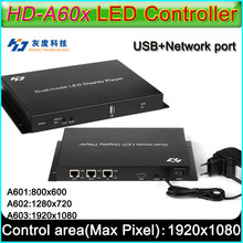 HD A60X Serie vollfarb led display controller, HD A601/HD A602/HD A603, Syn Asyn dual modus HD player box
