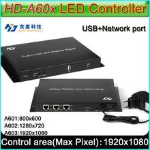 Serie HD A60X Full color display controller Led, HD A601/HD A602/HD A603, Syn Asyn dual mode lettore HD box