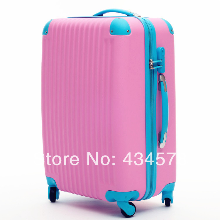 aff62cab46ce 2014 Whole Sale men travel bags,abs+pc 20 24 28 inch female universal wheel  luggage set,pink/green/blue/black/white/hot pink-in Carry-Ons from Luggage  ...