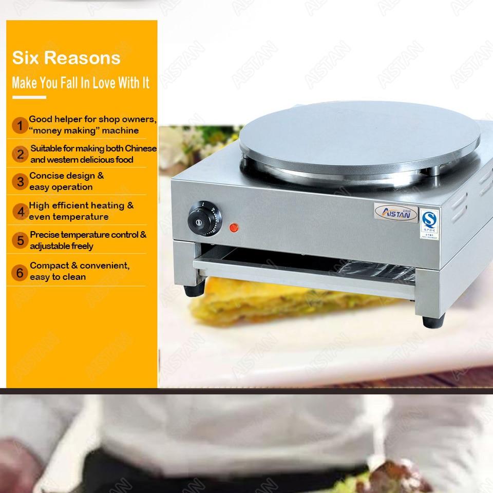 DE1/DE2 electric crepe maker cooker griddle machine for snack maker equipment 5