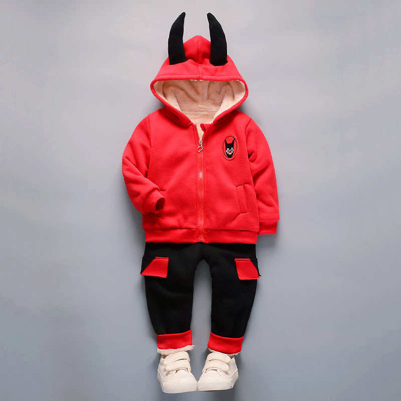 LITJAVA 2Pcs/Set Winter Baby Boy Girl Clothing Set Hooded Down Coat+ Pant Suit Thicken Baby Girl Christmas Outfit Set 0-2 Years
