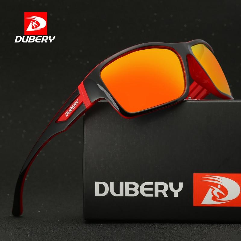 DUBERY Polarisierte Sonnenbrille UV400 Radfahren Brille Sport Herren Fahrer #