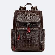 Frauen Aus Echtem Leder Rucksack Vintage Weiblichen Rindsleder Rucksack Hohe Qualität Schule Taschen für frauen Casual Rucksäcke für Mädchen
