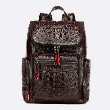 Women Genuine Leather Backpack Vintage Female Cowhide Backpack High Quality School Bags for Women's Casual Backpacks for Girls - DISCOUNT ITEM  45% OFF All Category