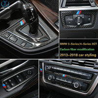 Carbon Fiber For BMW Cars All Parts Frame Stickers Cover Decorations For 3 Series 4Series 3GT
