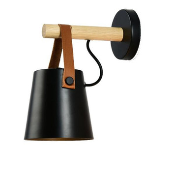 Vintage Loft Industrial Black/White Metal Wood Led E27 Wall Lamp for Foyer Bedroom Aisle Stair Deco Illuminare Porch Lamp 2351
