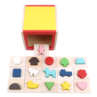 toy for children guessing wooden toys Color cube blind box puzzle hand brain with enlightenment toy touch