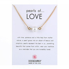 Imitation Pearl of Love Pendant Necklaces Clavicle Chains Necklace Fashion Chockers Necklace Women Valentine's Day Gift Jewelry dominated women pendant necklaces a short section of pearl necklace and exaggerated fashion multi clavicle necklace