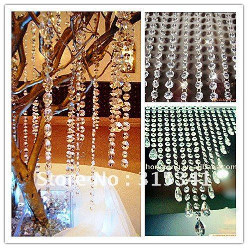 crystal strands for wedding decoration /wedding centerpiece/Christmas tree+free bead drop