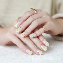The bride Manicure false nail products Manicure nail adhesive patch lovely flower finished a box of 24 pieces