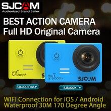 SJ5000 SJCAM Plus 16MP $ number fps y SJ5000X WiFi 4 K 24fps 2K30fps Record Gyro Deportes DV Buceo 30 m Impermeable Cámara de La acción