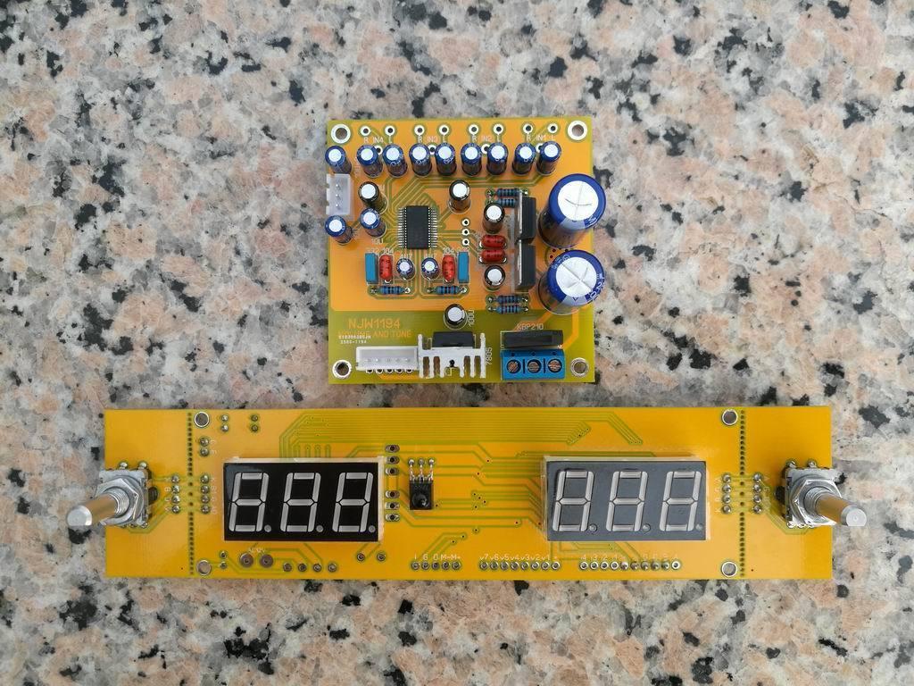 GZLOZONE (DIY KIT) NJW1194 remote volume conrol kit Treble & Bass adjust preamp L3-43 hifi preamp diy kit jv15 pga2311 remote volume preamplifer kit support 4 way inputs with aluminum remote