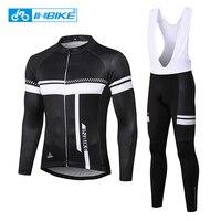 INBIKE Winter Cycling Jersey Set Long Sleeve Racing Bike Clothes Bib Pants Thermal Warm MTB Bicycle Cycling Clothing Ciclismo