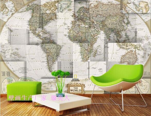 1 sq m custom 3d no tejido ikea papel pintado pvc foto grandes murales de pared mapa del mundo - Papel paredes ikea ...
