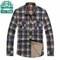 Nian AFS JEEP 3XL 4XL tamanho grande outono dos homens de manga comprida camisas de algodão xadrez, Original carga Casual solto overshirt homem cuecas
