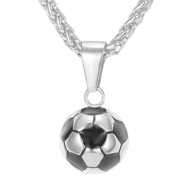 Football pendant necklace men stainless steel necklace world cup football pendant necklace men stainless steel necklace world cup football necklace fans jewelry aloadofball Images