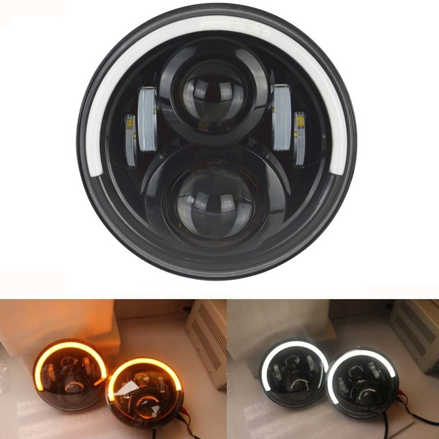 7 Inch LED Motorcycle Halo Headlight Universal Mounting Bracket For Cafe Racer Choppers Honda Yamaha Accessories